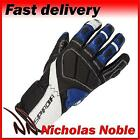 SPADA BURNOUT Black Blue White FULL LEATHER SPORTS MOTORCYCLE GLOVES