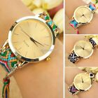 Lady Analog Geneva Thread Knitting Chain Bracelet Quartz Wrist Watch Rope N98B