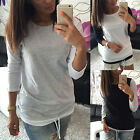 Fashion Womens Long Sleeve Shirt Casual Blouse Loose Pullover Tops T Shirt TY