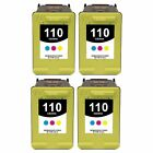 4-PACK Remanufactured HP  Color Ink Cartridge Set for PhotoSmart A612 Printer