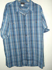 NEW XXL BLUE PLAID SHIRT 65%POLYESTER 35%COTTON made in USA by Triumph of CA