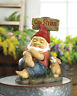 ON STRIKE lazy relaxing Sleeping Gnome Garden LAWN ART outdoor STATUE statuary