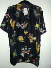 """new GAMBLING & COCKTAILS HAWAIIAN SHIRT BY VIBE JEANS sz 2x  56""""chest 32""""length"""
