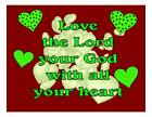 Custom Made T Shirt Love The Lord Your God With All Heart Christian Religion