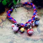 Chinese Characteristics Hand-woven Lucky Cat ceramic Bracelet Adjustable DT