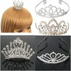 Pageant Party Wedding Bridal Crown Crystal Rhinestone Jewelry Tiara Silver US