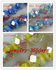 12pcs Crystal Glass Flower Faceted Beads 3Colors-1 12x10mm