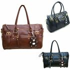 Trendy Fashion Handbag with Cute Bear Ornament  Girls Leatherette Shoulder bag