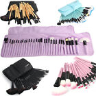 Professional Soft Brushes Cosmetic Eyebrow Shadow Makeup Brush Set Kit+Pouch Bag