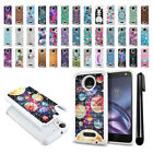 For Motorola Moto Z Droid Edition Studded Bling HYBRID Case Phone Cover + Pen