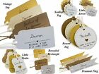Individually Personalised Wedding Favour Gift Tags with Guest Name