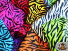 Fleece Fabric Printed ZEBRA Fabric 30 Yards