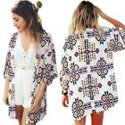 Sexy Womens Bathing Suit Kimono Bikini Cover Up Summer Beach Dress Swimwear F1D4