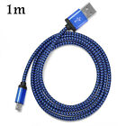 3/6/10ft Aluminum Braided Micro USB Data&Sync Charger Cable For Android Phones