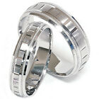 Matching His Hers White Gold Wedding Band Ring New Set