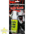 BLOOD SPRAY HALLOWEEN SCAR BLOODY GORY SPECIAL FX FAKE BLOOD RED FANCY DRESS