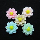 100 Pcs Layered Flower Resin Flatback Cabochon Scrapbooking Decoration 14mm