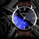 New Vogue Leather Strap Military Sport Quartz Wrist Watch Mens Womens Watches