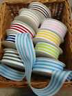 Woven Stripe Grosgrain Ribbon - 38mm - 7 Colours & various lengths. END OF LINE
