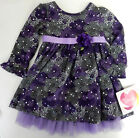 Youngland 2T Purple Long Sleeve Floral Dress Toddler Girls Clothing