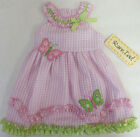 Rare Too 12 24 Months Pink Butterfly Summer Dress Baby Girl Clothes