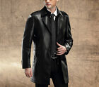 New winter men's leather sheep Phi clothing long section large size windbreaker