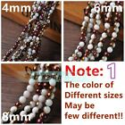NEW Wholesale 4mm 6mm 8mm Round Crystal Glass Charms Loose Spacer Beads Findings
