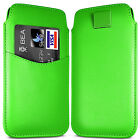 PREMIUM CARD SLOT PU LEATHER PULL FLIP TAB CASE COVER POUCH FOR MOTOROLA PHONES