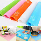 Fondant Pastry Silicone Rolling Work Mat Mould Sugarpaste Cake Dough Baking Tool