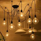 Vintage Industrial Chandelier E27 Edison Loft Pendant Ceiling Lights DIY Decor