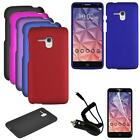 """For Consumer Cellular Alcatel Pop 3 LTE (5.5"""") Case Car Charger Hard Cover Film"""