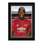 Personalised Manchester United Paul Pogba Autograph Photo Framed