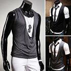 Simply Design New Men's Boy Casual Vest sleeveless Tee Shirt T-shirt Top SML