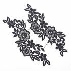 2Colors 1 Pair Lace Trim Applique Flower Leaves Sewing Craft Wedding Dress DIY