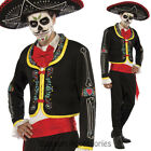 CL796 Mens Day of the Dead Skeletons Mexican Halloween Skull Spanish Costume