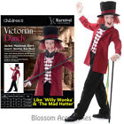 CK856  Boys Victorian Dandy Willy Wonka Mad Hatter Fancy Dress Book Week Costume