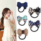 New Women Scrunchie Ponytail Holder Ribbon Bow Hair Band Hair Rope Colors