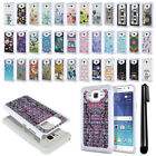 For Samsung Galaxy J7 J700 Anti Shock Studded Bling HYBRID Case Cover + Pen