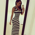 Great Women Striped Tank Long Dress Roupas Femininas Women Sexy Maxi Dresses