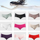 Women's Invisible Seamless Soft Thong Lingerie Briefs Hipster Underwear Panties
