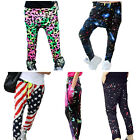 Girls Sports Hip Hop Polyester Pants Patchwork Dance