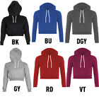 New Womens Sexy Bare Midriff Style Long Sleeve Sweater Solid Color Hooded Tops