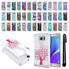 For Samsung Galaxy Note 5 N920 Anti Shock Studded Bling HYBRID Case Cover + Pen