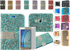 Tempered Glass+Rhinestone PU Wallet Case Cover For Samsung Galaxy On5 SM-G550