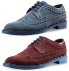 New Goodwin Smith Baaxendale Suede Blue Mens Brogue Shoes ALL SIZES AND COLOURS
