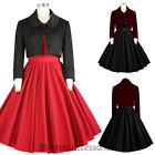 RK120 Women's Bolero Shrug Jacket Rockabilly 50s Costume Gothic Pin Up Retro