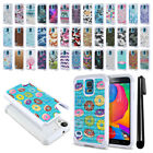 For Samsung Galaxy S5 G900 Anti Shock Studded Bling HYBRID Case Phone Cover +Pen