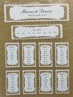 Personalised Handmade Burlap Lace Wedding Table Seating Plan Chart