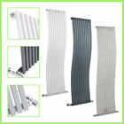 Vertical Designer Radiator - Curved Oval Columns - Modern Central Heating Rads