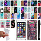 "For Apple iPhone 7 4.7"" Art Design TPU Soft SILICONE Rubber Case Cover + Pen"